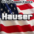 Illustration of font Hauser
