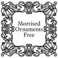 Illustration of font Mortised Ornaments Free