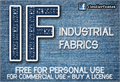 Illustration of font CF Industrial Fabrics
