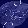 Illustration of font Encina Script 1 PERSONAL USE