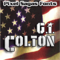 Illustration of font GI Colton
