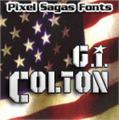 Illustration of font GI Colton