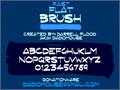 Illustration of font Fast Flat Brush