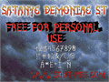 Illustration of font Satanyc Demoniac St