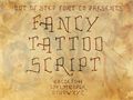 Illustration of font Fancy Tattoo Script
