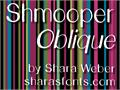 Illustration of font Shmooper