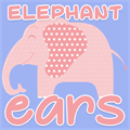Illustration of font Elephant Ears Demo
