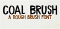 Illustration of font DK Coal Brush