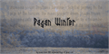 Illustration of font Pagan Winter