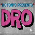 Illustration of font Dro DEMO