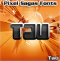 Illustration of font Tau
