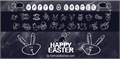 Illustration of font HAPPY EASTER