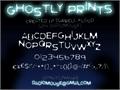 Illustration of font Ghostly Prints