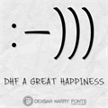 Illustration of font DHF A Great Happiness