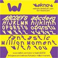 Illustration of font FUNTASTIC MILLION MOMENT