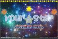 Illustration of font Your Star