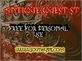 Illustration of font Antique Quest St