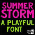 Illustration of font KG Summer Storm Rough