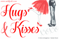 Illustration of font Hugs and Kisses xoxo Demo