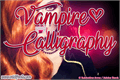 Illustration of font Vampire Calligraphy