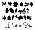 Illustration of font JI Nature Bats