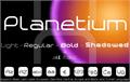 Illustration of font Planetium-X Bold Demo
