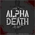Illustration of font Alpha Death Personal Use