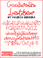 Illustration of font Cachuelin Letter