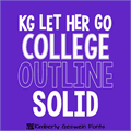 Illustration of font KG LET HER GO