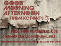 Illustration of font GoodMorningAfternoon