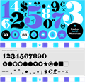 Illustration of font Dauber Hand Numerals