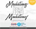 Illustration of font Manhatoones Script