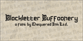 Illustration of font Blackletter Buffoonery