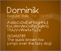 Illustration of font Dominik