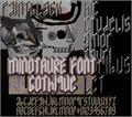 Illustration of font MINOTAURE Gothique