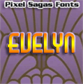 Illustration of font Evelyn