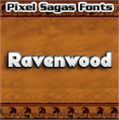 Illustration of font Ravenwood