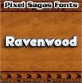 Illustration of font Ravenwood