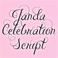 Illustration of font Janda Celebration Script