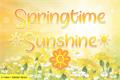 Illustration of font Springtime Sunshine