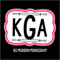 Illustration of font KG Modern Monogram
