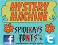 Illustration of font MYSTERY MACHINE