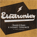 Illustration of font Electronics PERSONAL USE