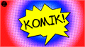 Illustration of font Komik