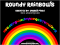 Illustration of font Roundy Rainbows