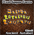 Illustration of font Giedi Ancient Autobot