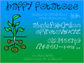 Illustration of font Happy Potatoes