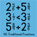 Illustration of font KG Traditional Fractions