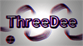 Illustration of font ThreeDee