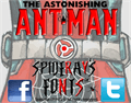 Illustration of font THE ASTONISHING ANT-MAN